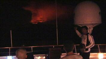 Cruise Passengers Witness Volcanic Eruption