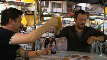 Drinking in a Malaysian Market