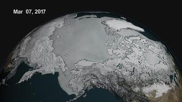 In Arctic, Peak Sea Ice Hits Record Low