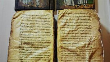 Mysterious, Ancient Bible on Display