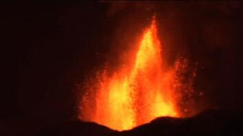 Volcano Erupts: Lava Rivers Flow