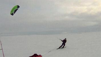 First Kite-Ski Trek across Arctic