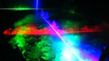 Indoor Volcano Gets Laser Treatment
