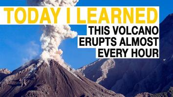 TIL: This Volcano Has Erupted Almost Every Hour For 94 Years