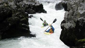 A Perfect Day for Kayaking White-Water Rapids