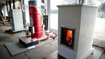 Inside the Wood Stove Decathlon