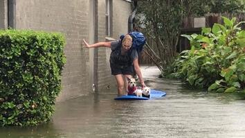 Watch Photographer Evacuate Mom and Dogs From Harvey's Devastating Flooding
