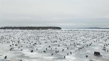 Watch: Nearly 10,000 People Ice Fish for Charity