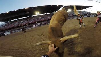 Rodeo Bullfighters Grab Life by the Horns