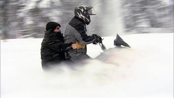 Snowmobiling with Bertha