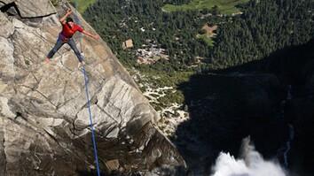 Highlining Yosemite Falls