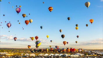 Colorful Time-Lapse of Hot-Air Balloons in New Mexico