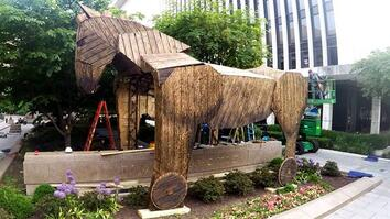 Watch a 3,700-Pound Trojan Horse's Road Trip to Washington, D.C.
