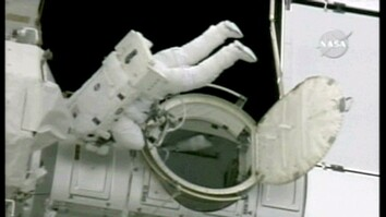 Astronauts Install New Tower