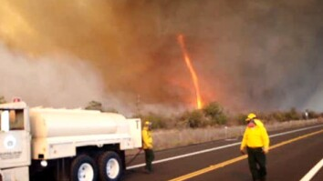 Fire Tornado Filmed in Hawaii