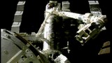 Shuttle Astronauts Space Walk