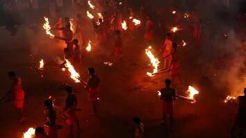 Watch a Hindu Fire-Throwing Festival