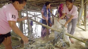This Community in the Philippines Converts Plastic Fishing Nets to Carpet