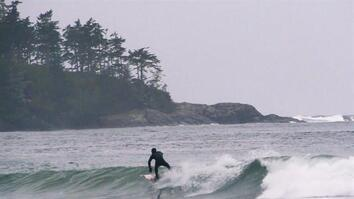 Rain + Cold + Canada = Perfect Surf