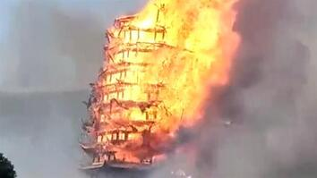 Tallest Pagoda in Asia Burns to the Ground