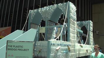 See the Brooklyn Bridge Model Made From 5,000 Plastic Bottles
