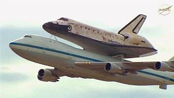 Shuttle Discovery: Final Flight Over D.C.