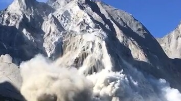 Watch: Massive Avalanche and Mudslide Sweep Down a Mountain