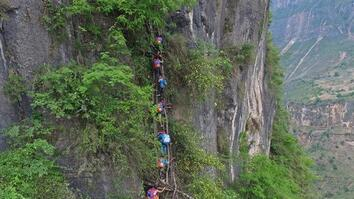 Would You Send Your Kid on a Deadly Climb to School? Here, It Happens