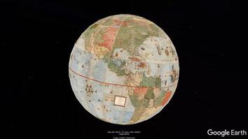 Monte Map of the World Globe Projection Composite