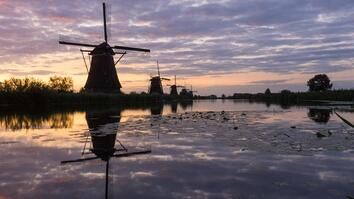 These 300-Year-Old Dutch Windmills Are Still Spinning Today