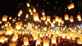 Watch Floating Lanterns Light Up the Sky in Thailand Festival
