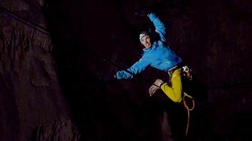 Watch This Daring Highwire Walk Through a Deep Underground Cave