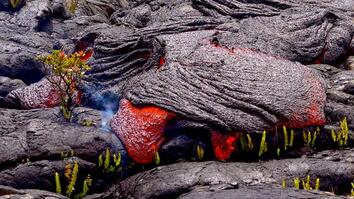 Follow a Lava River's Mesmerizing Path of Destruction