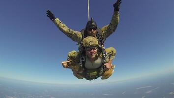 Hero War Dog Skydives With Soldier
