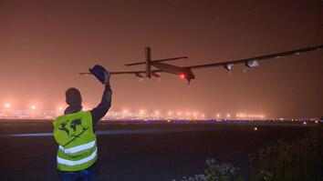 Solar-Powered Plane Awaited Sunnier Days for Pacific Flight