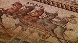 Rare 2,000-Year-Old Chariot Racing Mosaic Unearthed