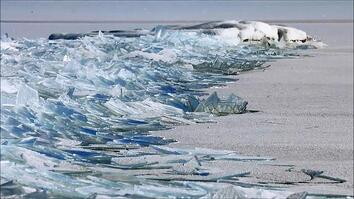 Strange, Beautiful Ice Shards Stack Up on Lake Superior