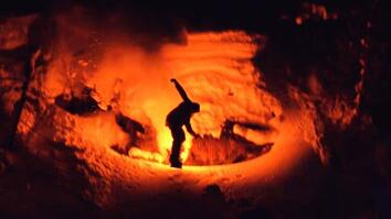 Night Skiing With Emergency Flares—One Epic Ride