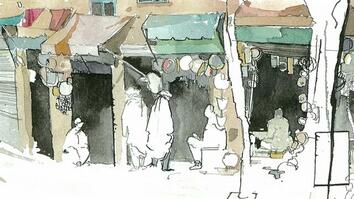 Captivating Drawings Reveal Afghanistan After Troops Leave
