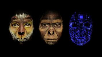 Watch Face Paint Tell the Story of Human Evolution in One Minute