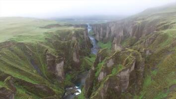 Drone POV: Soaring Over Iceland's Rugged Landscape