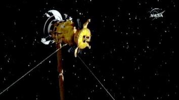 Saturn Moon Flyby