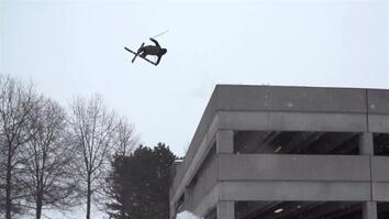 Ski-Jumping Off a Parking Deck in Boston
