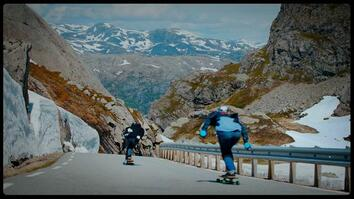 Fearlessly Longboarding Down Norway's Steep Mountain Roads