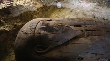 Sarcophagi, Jewelry, and Figurines Discovered in Ancient Egyptian Tombs