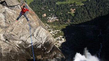 Highlining Yosemite Falls