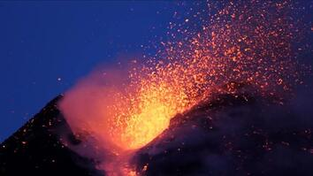 Amazing Volcano Footage: See Smoke and Lava Erupt From Mount Etna