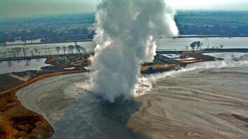 Watch a Mud Volcano That's Been Erupting for 10 Years