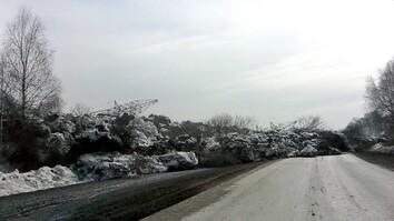 Watch as Russian Landslide Swallows Road