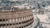 Rare Snowfall Covers Rome's Monuments